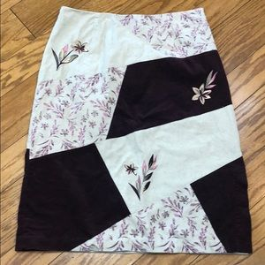 Christopher & Banks Patchwork Floral Skirt